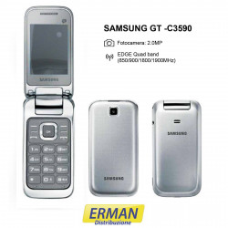 Samsung GT C3590 Telefono cellulare display a colore, Argento