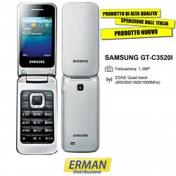 Samsung GT-C3520I Telefono Cellulare FLIP-ARGENTO Display a colori Camera 1.3M
