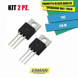 KIT 2 PZ. TIC 116M 600V 8A...