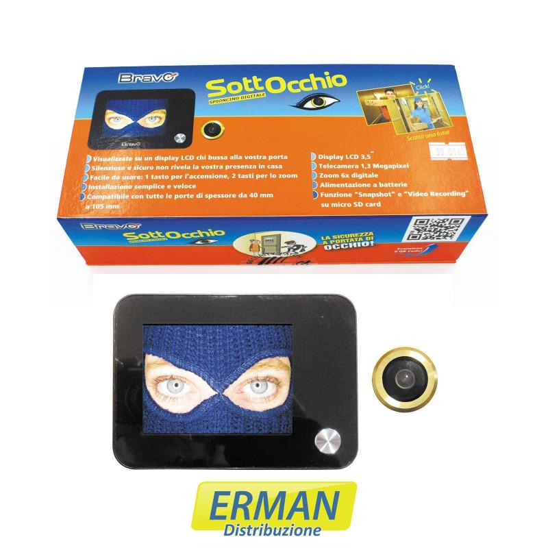 Bravo Sottocchio - Spioncino elettronico digitale con monitor LCD 3.5 a colori