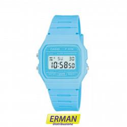 Orologio CASIO originale 91WC-2AEF digitale color azzurro blu vintage classico