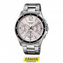 Orologio da polso Casio mtp-1374d-7 per uomo cinturino in acciaio cronometro
