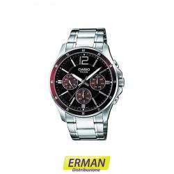 Orologio CASIO da polso Uomo MTP-1374D-5 cinturino in acciaio cronografo
