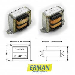 Trasformatore lamellare con ingresso 220V - uscita 15V - 1,5A