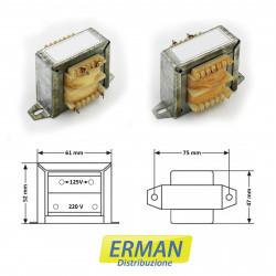 Trasformatore lamellare con ingresso 220V - uscita 125V - 1,5A