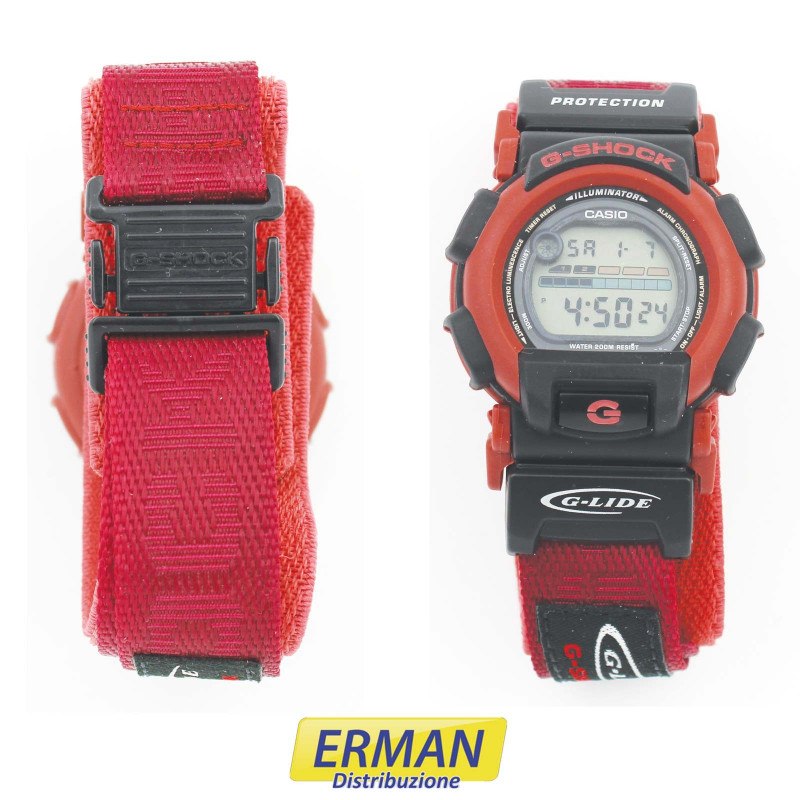 Orologio Casio DW-003 - 1647 G-SHOCK G-LIDE color selly red cinturino in tessuto