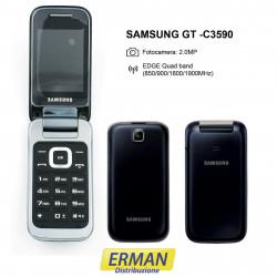 Samsung GT C3590 Telefono cellulare display a colore, Nero