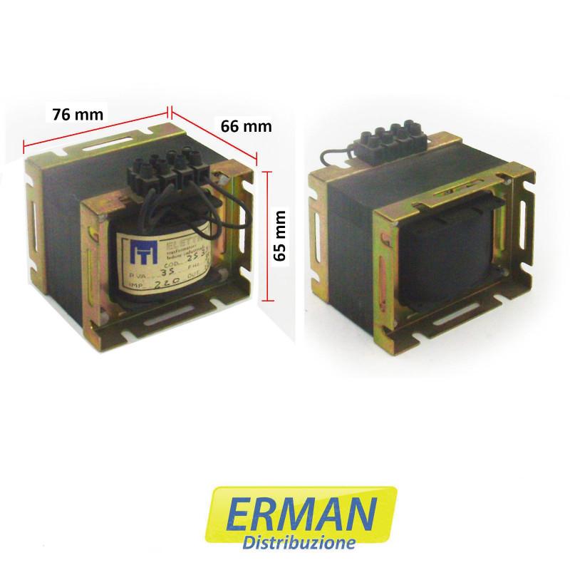Trasformatore lamellare di alimentazione in 220V - uscita18V - 5A