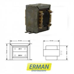 Trasformatore lamellare 220V uscita 20V 2.5A