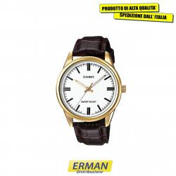 Orologio da polso PER UOMO CASIO MTP-V005GL-7 Cinturino in Pelle cassa color oro