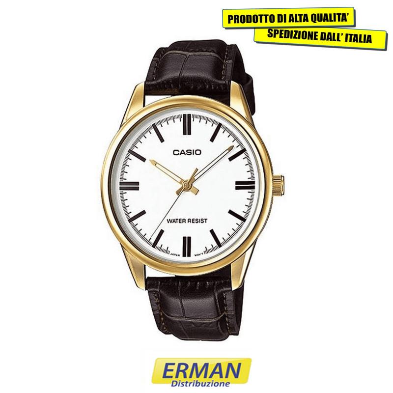 Orologio da polso PER DONNA CASIO MTP-V005GL-7 Cinturino in Pelle cassa color oro
